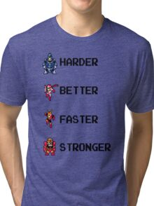 Harder Better Faster Megaman Tri-blend T-Shirt