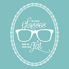 Do these glasses make my nerd look fat? (White) by Elly Hartley