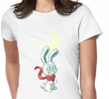 Moon Bunny 2 Womens Fitted T-Shirt