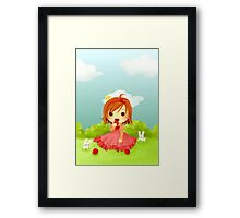 Chibi Cinderella Framed Print