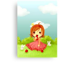 Chibi Cinderella Canvas Print