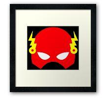 Super hero mask (Flash) Framed Print