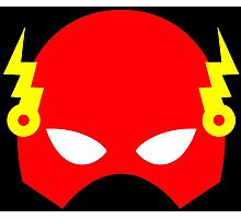 Super hero mask (Flash) Photographic Print