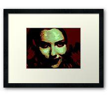 Zombie Girl ate my brains Framed Print