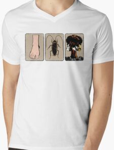 Foot, Cockroach, Nuclear Bomb Mens V-Neck T-Shirt