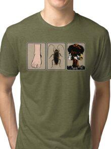 Foot, Cockroach, Nuclear Bomb (White Border) Tri-blend T-Shirt