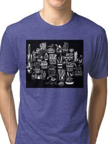 Succulent Party (Night Version) Tri-blend T-Shirt