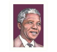 Mr Mandela Art Print