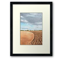 Ploughed Field, Shropshire - watercolour Framed Print