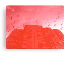 City After Rain (red) Canvas Print