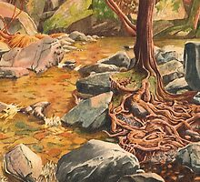 Independence Trail, North California - watercolour by Gee Massam