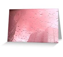 City After Rain (pink) Greeting Card