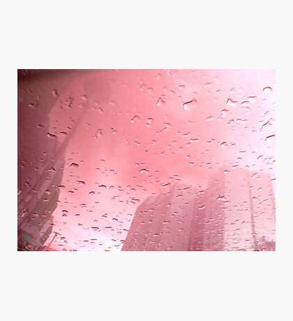 City After Rain (pink) Photographic Print