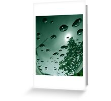 City After Rain (green) Greeting Card