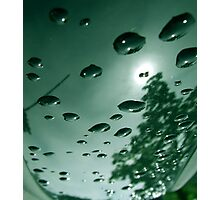City After Rain (green) Photographic Print