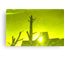 City After Rain (yellow-green) Canvas Print