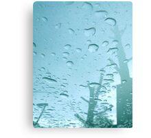 City After Rain (blue) Canvas Print