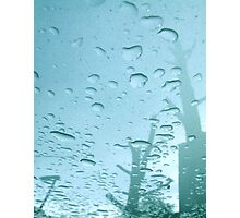 City After Rain (blue) Photographic Print