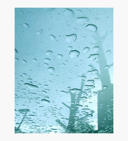 City After Rain (blue) Photographic Print