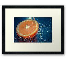 Juicy Splash Framed Print