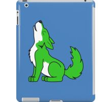 Green Howling Wolf Pup iPad Case/Skin