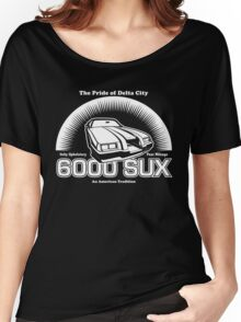 6000 SUX (White Print) Women's Relaxed Fit T-Shirt