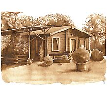 Summer Cabin, France - Aquamarkers Photographic Print