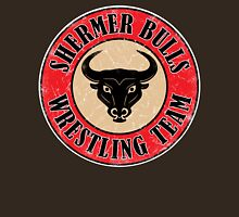 Shermer Bulls Wrestling Team (White Border) Unisex T-Shirt