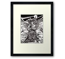 The Graveyard Book, 'The Ghoul Gate' - ink Framed Print