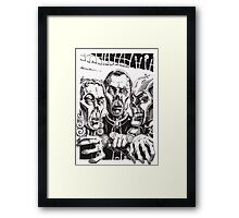 The Graveyard Book, 'The Ghouls' - ink Framed Print