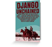 Django Unchained Movie Poster Greeting Card