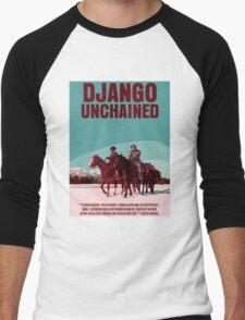 Django Unchained Movie Poster Men's Baseball ¾ T-Shirt