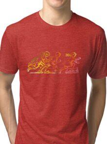 Happy Venture Rainbow Runners Tri-blend T-Shirt