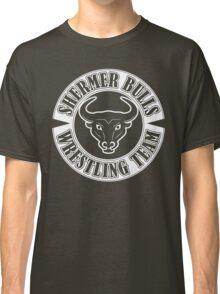 Shermer Bulls Wrestling Team (White Print) Classic T-Shirt