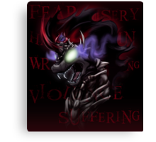 Fear and Wrath - The Shadow King Canvas Print