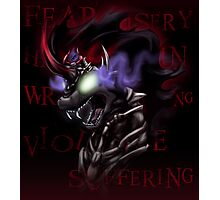 Fear and Wrath - The Shadow King Photographic Print