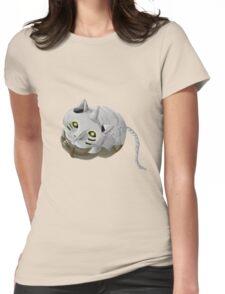 Al Cat Womens Fitted T-Shirt