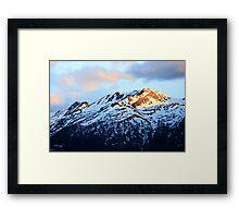 Sunshine on the Mountain Tops Framed Print
