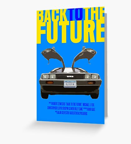 Back To The Future Movie Poster Greeting Card