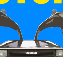 Back To The Future Movie Poster Sticker