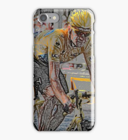 Bradley Wiggins - iPhone Case (Abstract) iPhone Case/Skin