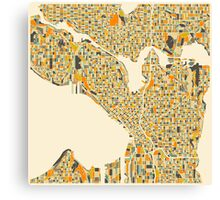 SEATTLE MAP Canvas Print