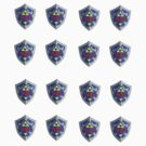 Hylian Shield Sticker Sheet - Small. by Eugenenoguera