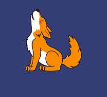 Orange Howling Wolf Pup Unisex T-Shirt