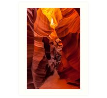 The Faces of the Slot Canyon Art Print