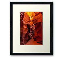 The Faces of the Slot Canyon Framed Print