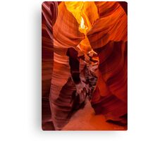 The Faces of the Slot Canyon Canvas Print