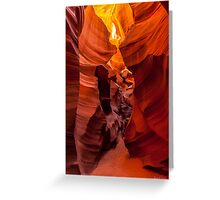 The Faces of the Slot Canyon Greeting Card