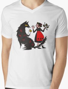What's the time, Mr Wolf Mens V-Neck T-Shirt