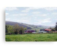 farmhouse and sheds on Irish farm Canvas Print